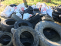 Trash tires and bags